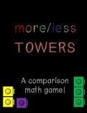 More/Less Towers! A Eureka Math Center for PreK and Kindergarten