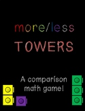 Comparing Numbers Center Activity: More/Less Towers! A Eur