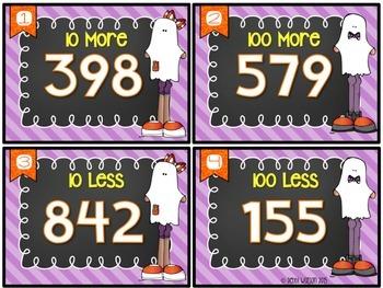 More & Less by 10 & 100 Place Value Task Cards Flex Set 2.NBT.8