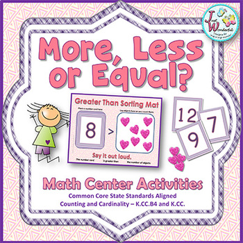Greater Than Less Than - Math Centers and Games