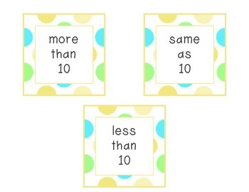 More, Less or Equal to 10