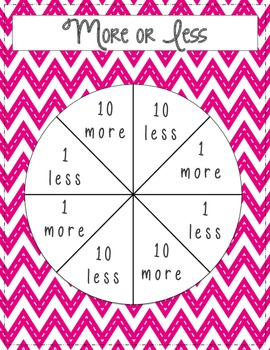 More, Less, or Fewer and Skip Counting Spinner Games