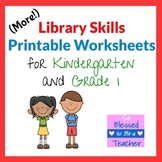 More Library Skills Printable Worksheets for Kindergarten