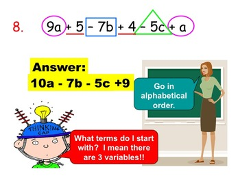More Like Terms and Distributive Property (Instructional PowerPoint & Assign.)