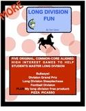 More Long Division Fun!  5 Original Common Core Games for 3rd - 6th Grade