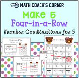 Make 5 Four-in-a-Row: Number Combinations for 5