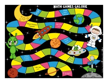 More Math Games Galore Gr. 1 seven board games, five 1st grade math concepts!