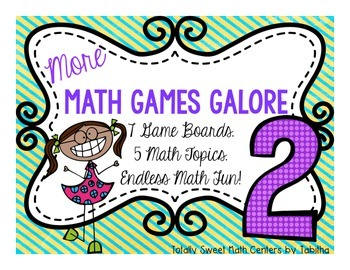 More Math Games Galore Gr. 2 seven board games, five 2nd g