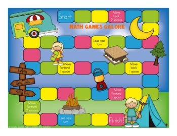 More Math Games Galore Gr. 3 seven board games, five 3rd grade math concepts!