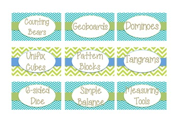 More Math Labels for Math Manipulatives