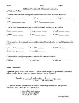 Unit Conversion Practice Worksheets & Teaching Resources | TpT