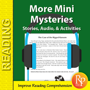 More Mini Mysteries: 20 Stories, Read-Along Audio, & Comprehension Activities