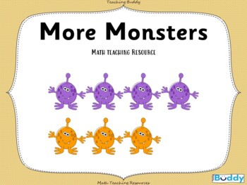 More Monsters - Teaching 'More Than' with a Halloween Theme