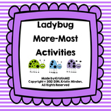 More-Most Ladybug Activities