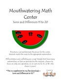 More Mouthwatering Math -- Sums & differences 11 to 20