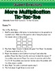 Multiplication Tic-Tac-Toe: Two and Three Digit Multiplication