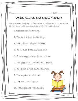 More Nouns, Verbs, and Markers