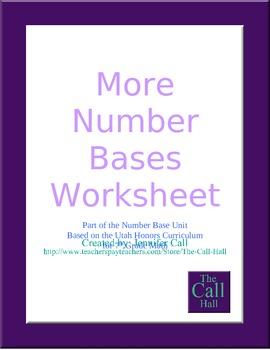 Day 4 - More Number Bases Worksheet
