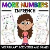 More Numbers Activities and Game in French - Les Numéros en Français