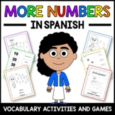 More Numbers Activities and Game in Spanish - Los Números en Español