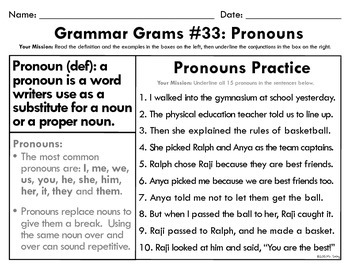 Grammar Grams (31-40): More Parts of Speech