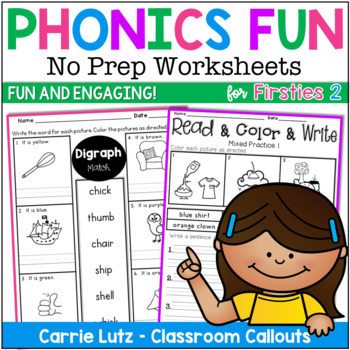 More Phonics Fun for Firsties {No Prep Printables}