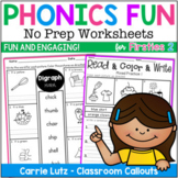 Phonics Worksheets 2 {No Prep Printables}