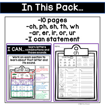 More Phonics Printables (Digraphs & Bossy R)
