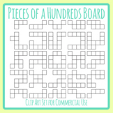 More Pieces of a Hundred Board Challenge Shapes Clip Art Set for Commercial Use