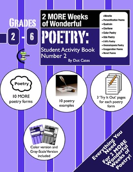 More Poetry: 2-Week Unit w/ 10 MORE Poetry Forms: Gr. 2-6