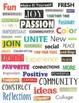 More Positive Magazine Cutouts-   Found Words (Set #2)