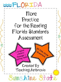 More Practice for the Reading FSA (Florida Standards Assessment) Test Prep