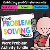 Problem Solving Bundle: Games, Task Cards,Foldables, & More