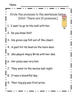 More Pronoun Fun