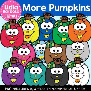 More Pumpkins-Halloween Clipart