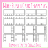 More Punch Card Templates Clip Art Set for Commercial Use