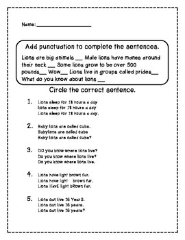More Punctuation Practice