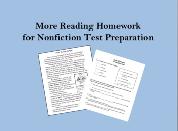 More Reading Homework for Nonfiction Test Preparation