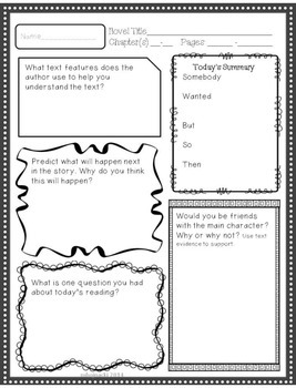 More Reading Response Sheets for Any Novel