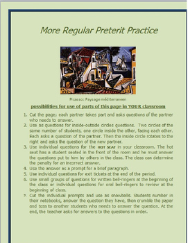 More Regular Preterit Practice