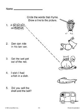 More Rhyming Word Activities