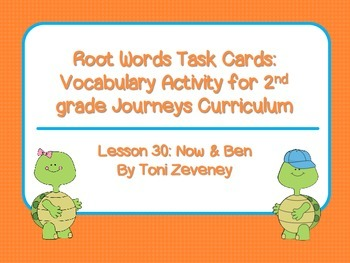 More Root Word Task Cards for Journeys Grade 2