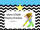 More STAAR Poetry Practice for 3-5