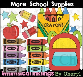 More School Supplies Clipart Collection