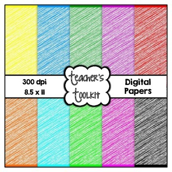 More Scribbles Digital Background Papers {8.5 x 11} CU OK