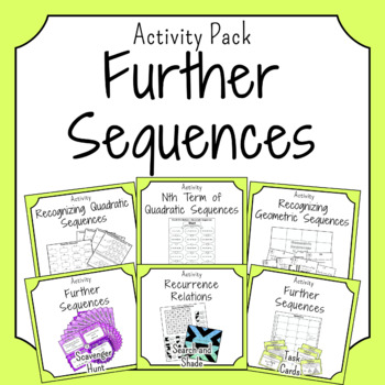 More Sequences Activities
