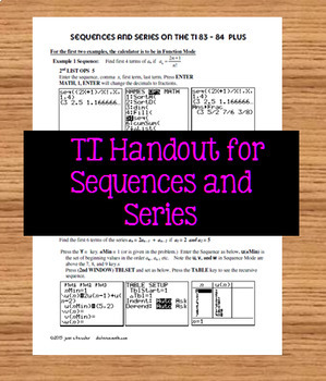 More Sequences and Series