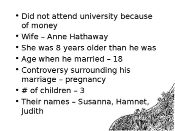More Shakespeare PowerPoint