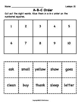 More Sight Word Activities Grade 3