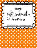 """More Sight Word Practice Dolch All Five Sets 1/2"""" Lines BUNDLE"""